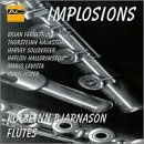 CD cover of the disk Implosions where the flutist K. Bjarnason performs cho.